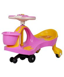 EZ' Playmates Magic Car With Basket & Music - Pink Yellow