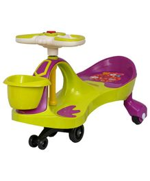 EZ' Playmates Magic Car With Basket & Music - Green Purple