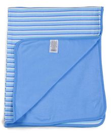 Owen Interlock Blanket Striped - Blue White