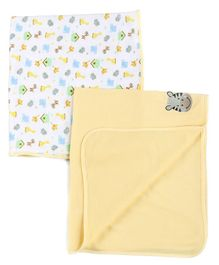 Owen Thermal Blanket Multi Print Pack of 2 - Yellow
