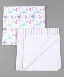 Owen Receiving Cotton Blankets Strawberry Design Pack of 2 - Pink