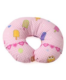 Neck Support Pillow Ice Cream Print - Pink