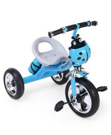 Musical Tricycle With Water Bottle Carrier Ladybug Design - Blue