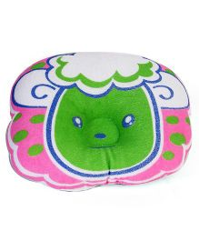 Baby Pillow Sheep Face - Green Pink