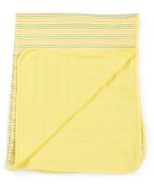 Owen Interlock Blanket Striped - Yellow