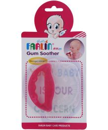 Farlin - Silicone Gum Soother with Handle