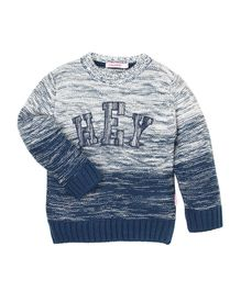 Wingsfield Hey Design Full Sleeves Sweater - Blue