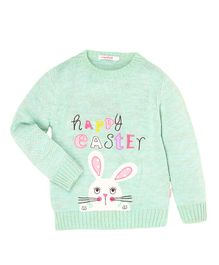 Wingsfield Happy Easter Design Full Sleeves Sweater - Green