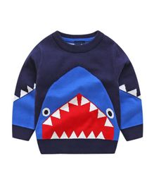 Pre Order - Awabox Full Sleeves Shark Design Sweater - Navy Blue