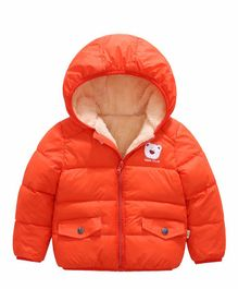 Awabox Bear Applique Hooded Jacket - Orange
