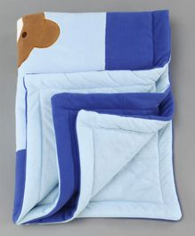 Baby Blanket Teddy Bear Patch - Blue