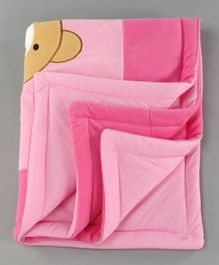 Baby Blanket Teddy Bear Patch - Pink
