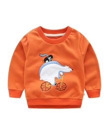 Pre Order - Awabox Polar Bear Patch Sweatshirt -  Orange