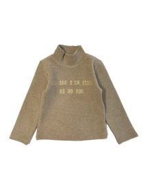 Pre Order - Awabox Full Sleeves Letters Embroidered Top - Light Brown