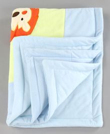 Baby Blanket Lion Print - Blue