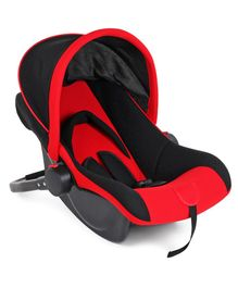 Rear Facing Car Seat Cum Carry Cot - Red Black