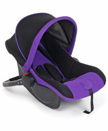 Rear Facing Car Seat Cum Carry Cot - Purple Black