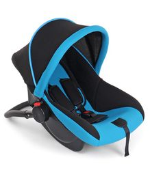Rear Facing Car Seat Cum Carry Cot - Blue Black