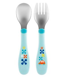 Chicco Metal Cutlery - Blue