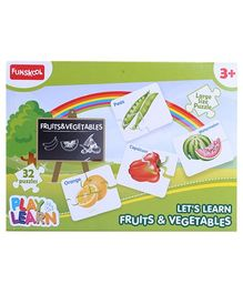 Funskool - Set Of 32 Fruits And Vegetables Puzzles