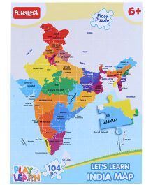 Funskool Learn India Map Puzzle - 104 Pieces