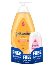 Johnson's Baby Shampoo With Free Baby Lotion - 500 ml + 100 ml
