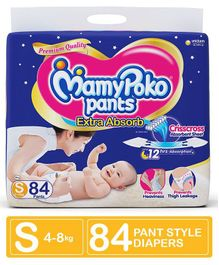 MamyPoko Extra Absorb Pant Style Diaper Small Size - 84 Pieces