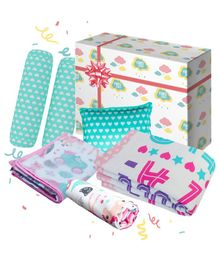 Fancy Fluff Princess Baby Combo Gift Box Set of 8 - Multicolour