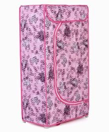 Storage Unit With 3 Shelves Floral Print - Pink