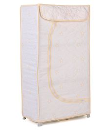 Storage Unit With 3 Shelves Floral Print - Cream
