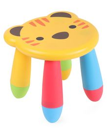 Lion Design Baby Stool - Yellow