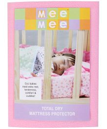 Mee Mee Total Dry Mattress Protector Pink - Medium