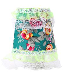 Night Lamp Flower Print - Sea Green