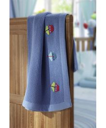 Lollipop Lane - Fish and Chips Knitted Blanket