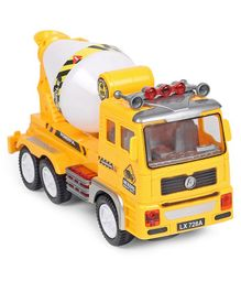 Dr Toy Flash Electric Engineering Concret Mixer Truck - Yellow