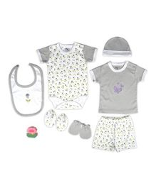 Beebop Babee's Clothing Gift Set Floral Print Pack of 7 - Yellow