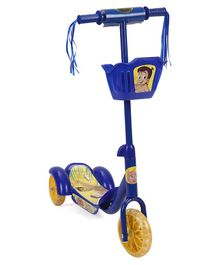 Chhota Bheem 3 Wheel Scooter With Basket - Blue