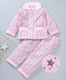 Star Of Capital Stars Printed Night Suit - Pink