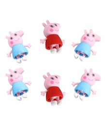 Party Propz Peppa Pig Erasers Blue Red - Pack of 6