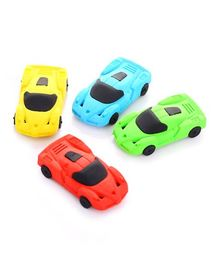 Party Propz Car Shaped Erasers Multicolour - Pack of 4