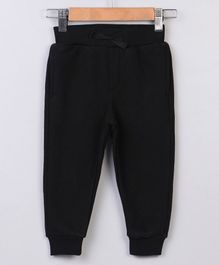 Beebay Full Length Solid Lounge Pant - Black