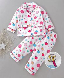 Star Of Capital Candy Printed Night Suit - Pink