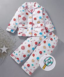 Star Of Capital Candy Printed Night Suit - Blue
