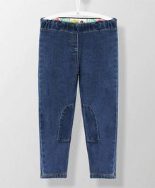 Cherry Crumble California Solid Full Length With Back Pocket Bottoms - Blue
