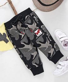 Kookie Kids Camouflage Print Full Length Pant - Black