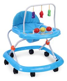 Baby Walker With Hanging Toys - Blue