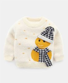 Pre Order - Awabox Full Sleeves Snowman Design Sweater - Cream