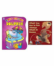 Macaw - Combo Pack Of 2 Copy Colour Dolphin And What You See Is Not Always What It Seems Shadow Book