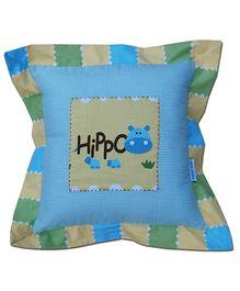Abracadabra - Hippo Print Filled Cushion