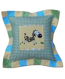 Abracadabra - Zebra And Check Print Filled Cushion